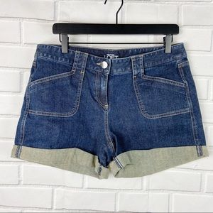 Loft original cuffed denim jean shorts 10 NWT